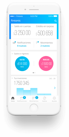 Fitonic dashboard